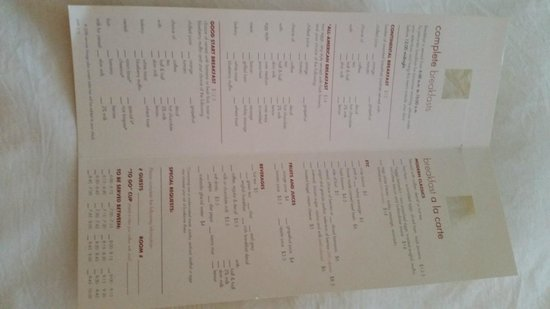 Albuquerque Marriott: menu