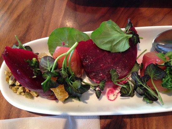 Sea and Smoke, an American Brasserie: Beet salad
