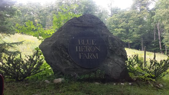 Blue Heron Farm main entrance