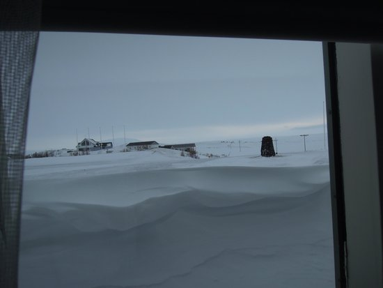 Touris: view from our room. lots of snow!