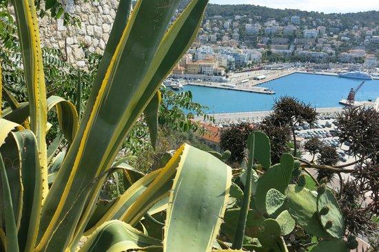 Colina del Castillo: vue sur le port de Nice