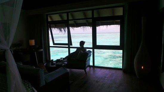 Four Seasons Resort Maldives at Kuda Huraa: Looking out from the main bedroom.