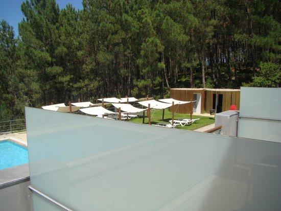 A piscina com espanha do outro lado do rio minho fotograf a de monte prado hotel spa melgaco - Piscinas melgaco ...