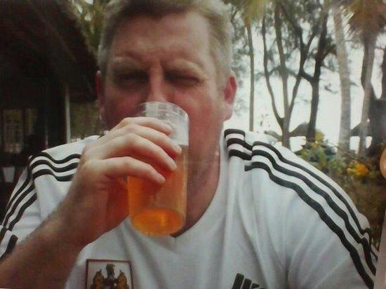 Diani Sea Lodge: Me enjoying a tusker beer.