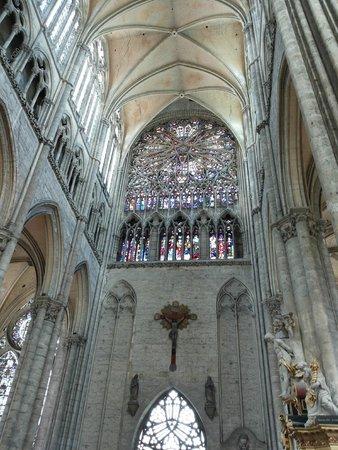 Cathédrale Notre-Dame d'Amiens : Il rosone del transetto