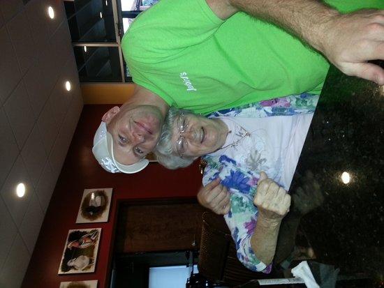 Jaybird's Inn: Chris the Bartender and my mom