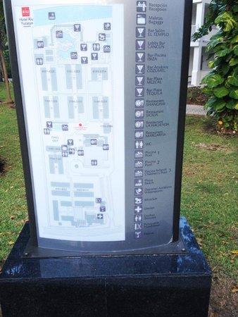 Hotel Riu Yucatan: Hotel Map