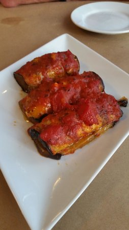 ‪‪Black Olive Greek Cuisine‬: Eggplant baked with feta cheese and marinara sauce‬