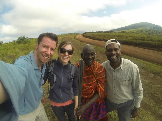 Warrior Trails Day Tour: On the Ngorongoro Crater rim with a Maasai chief and our guide Nicholas