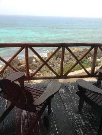 Ventanas al Mar: Balcony off our room, upper level