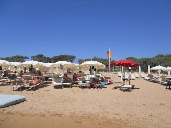 Althea Palace Hotel: Spiaggia Hotel Althea Palace