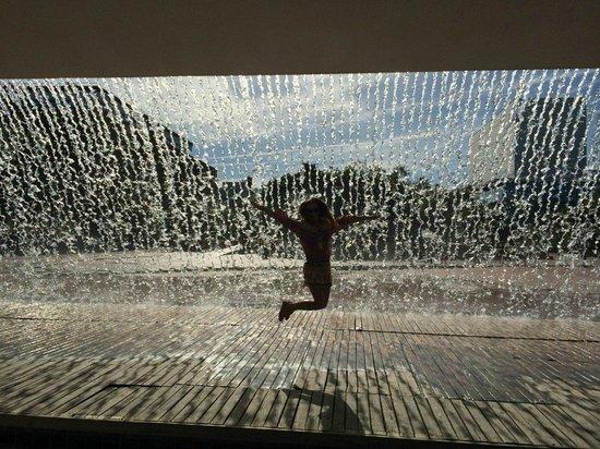 Parque das Nacoes: Необычный фонтан