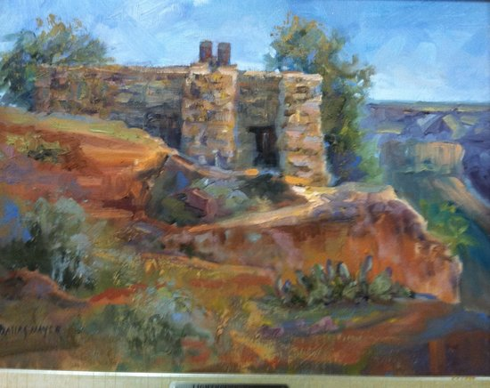 Palo Duro Canyon State Park : Lighthouse Cabin original art by artist, Dallas Mayer.