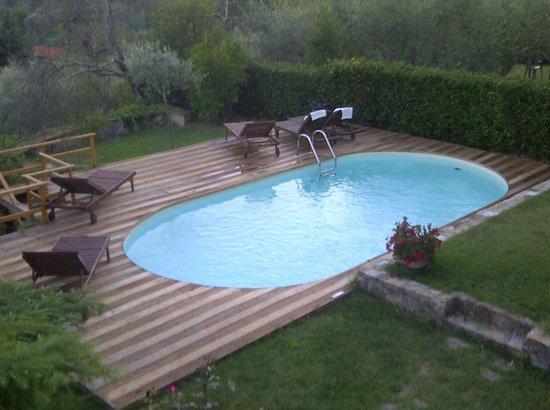 Florence La Paggeria B&B: piscina con vista su Firenze