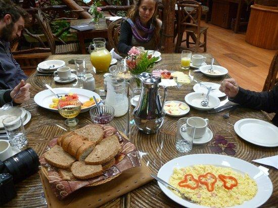 Hosteria Finca Chamanapamba: rico desayuno