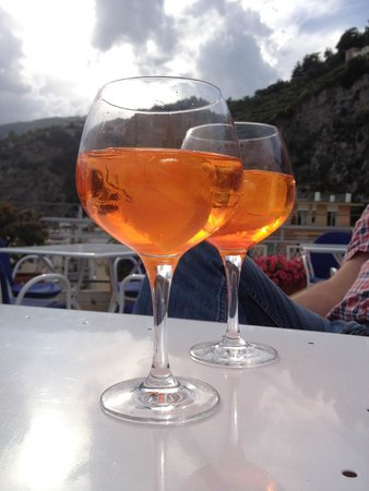 Hotel Panorama: Just having a nice drink in the evening at the roof terrace