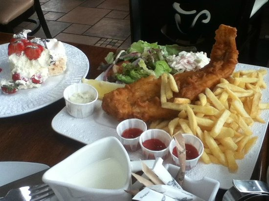 Diamond Rocks Cafe: With portions like these, you will not go hungry.
