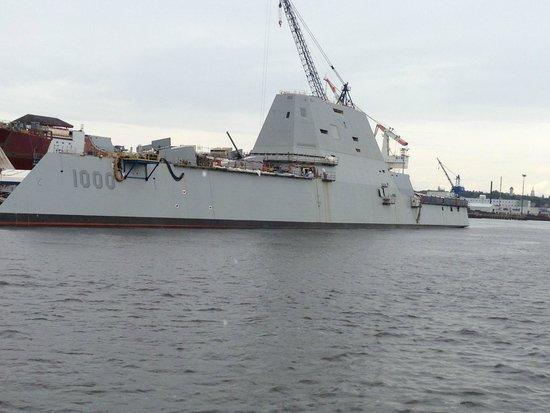 Cap'n Fish's Whale Watch: Zumwalt class Destroyer under construction at BIW