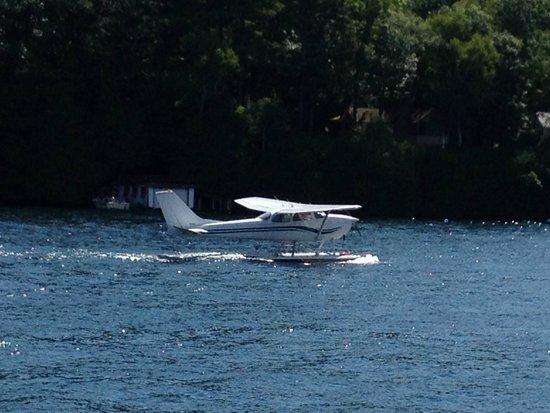 Lake George Steamboat Company: Plane on water