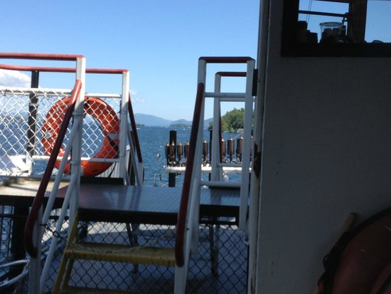 Lake George Steamboat Company: view of front of boat