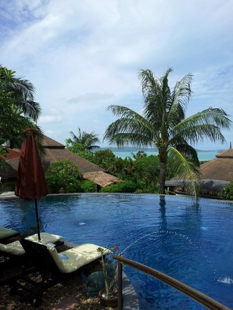Mangosteen Resort & Ayurveda Spa : View from the poolarea
