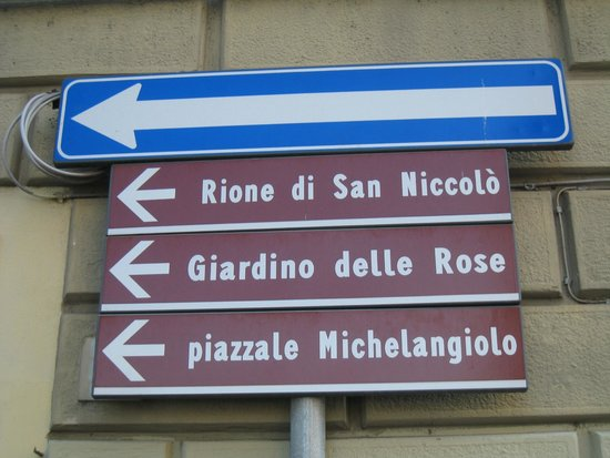 Piazzale Michelangelo: sign to Piazzale
