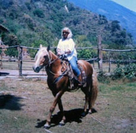 Santiago Atitlan, Guatemala: Rider leaving on trail ride