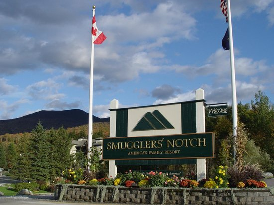 Entrance to Smugglers' Notch Resort
