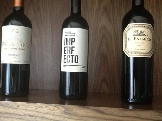 Fierro Hotel Buenos Aires : part of the in room wine selection