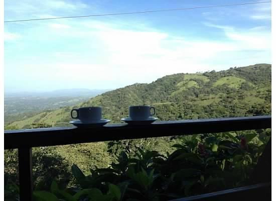 Parque de Aventura & Hotel Vista Golfo: morning coffee view
