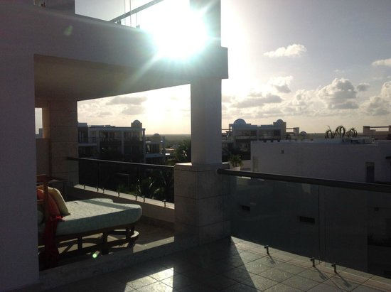 Excellence Playa Mujeres: View from the rooftop suite with the sunset.