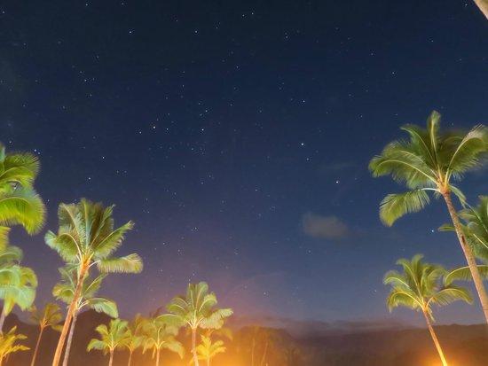 St. Regis Princeville Resort: St. Regis Princeville night time starry sky