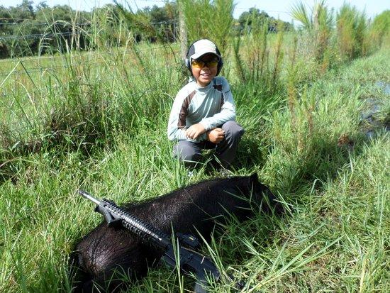 Ron's Guide Service: hog hunt aug 2014