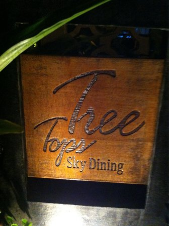 Tree Tops Sky Dining & Bar: Ingresso