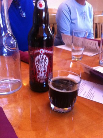 Appenzell Restaurant and Pub: A fine glass of Left Hand Brewing Wake Up Dead