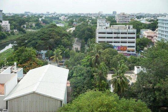 Radisson Blu Hotel Chennai City Centre: View of Coovam River from room