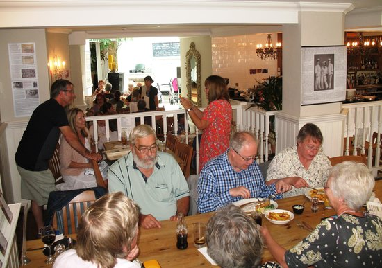 The Fish Factory: Our group with other customers in the background, all enjoying great food and excellent service