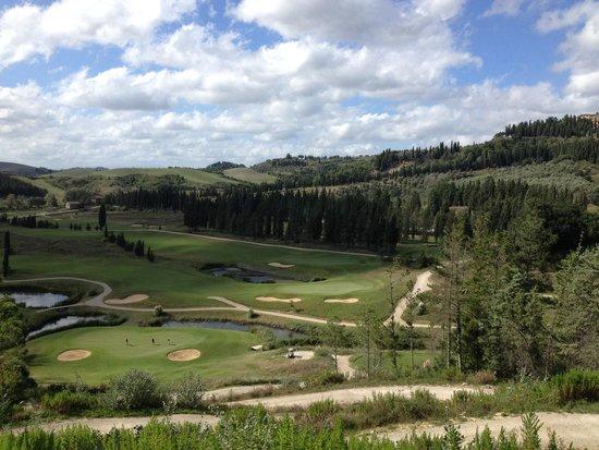Golf Club Castelfalfi: Spectaculaire hole 18