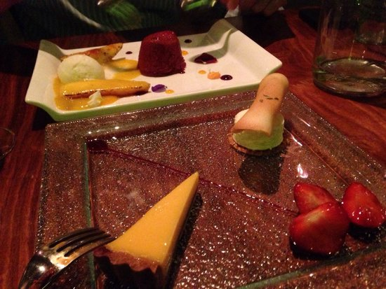 Mithas: Desert- passion Fruit tart and summer berry with ice cream