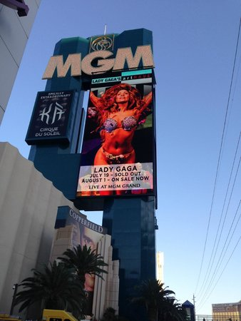 MGM Grand Hotel and Casino : Pantalla del hotel