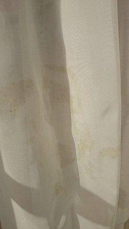 Hotel Laico Hammamet: Brudna firanka w pokoju