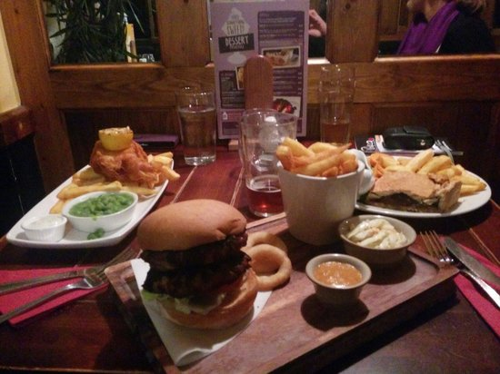 White Hart Hotel: dinner at the white hart. You cannot make your own double burger!? Why?