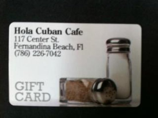 Hola! Cuban Cafe: Hola Cuban Cafe Gift Certificates