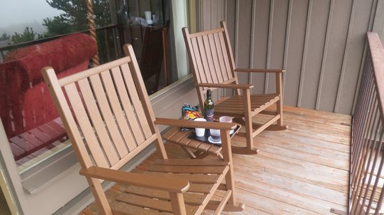 Salishan Spa and Golf Resort: Our Balcony