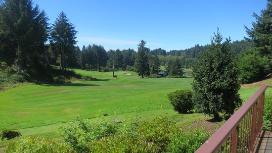 Salishan Spa and Golf Resort: Gorgeous View From Sun Room Dining Room