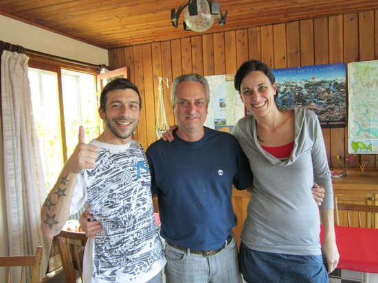 Hosteria Guemes : Martin, Paulo and Luciana