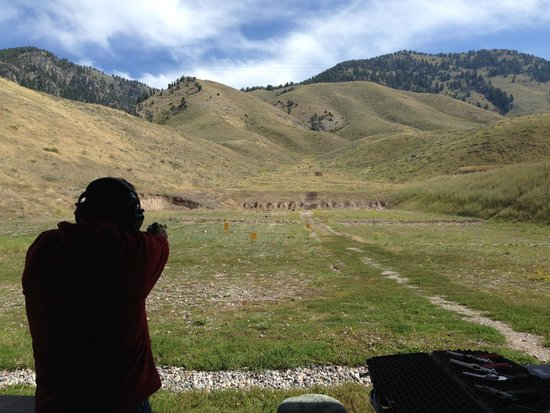 Jackson Hole Shooting Experience: The view of the range!