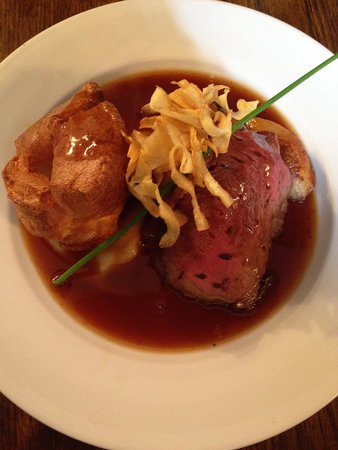 The Dog and Pheasant: A really great roast, the beef was amazing and cooked perfectly. Plenty of roast potatoes and ve