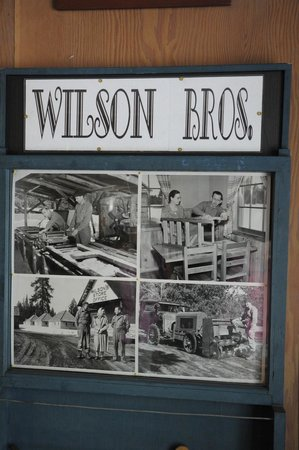 Wilson's Cottages: front office: photos of the construction of the cabins and furniture