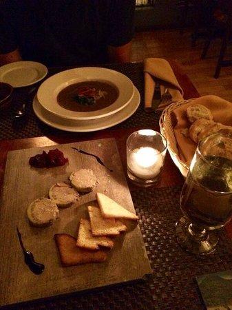 Restaurant La Petite Cachee: Foie Gras, Mushroom Soup